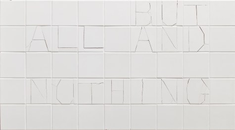 1_모든 것이면서 아무것도 아닌 것_2014_ceramic tiles on plywood_76x137.5x7cm