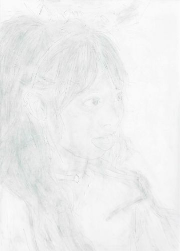 강정석_옆모습 Profile_2017_Pencil on paper_41 x 29.3 cm