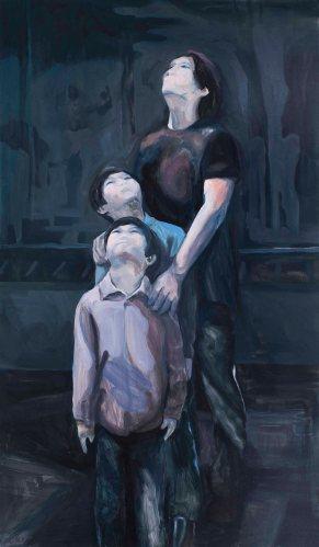 1.불꽃놀이(Fireworks), 2014, Oil on canvas, 194x112