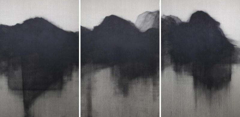 1_북한산(bukhansan) 2014 캔버스에 목탄 각195x130cm 3개