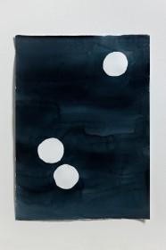 양희아_눈의 밤(눈세개)_water color on paper_76 x 56 cm_2014