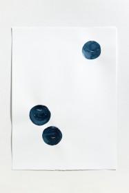 양희아_눈이 밤이 되고(밤세개)_water color on paper_76 x 56 cm_2014