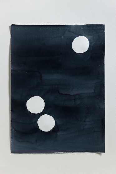 양희아_눈의 밤(눈세개)_water color on paper_76 x 56 cm_2014-min