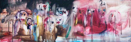채온_혼령들의 춤 oil on canvas 30x90cm 2012