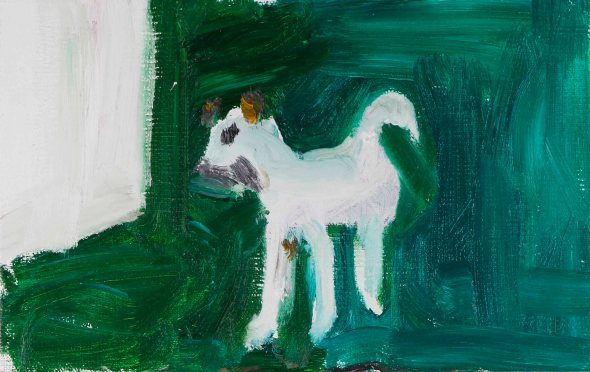 채온_White dog 흰색 개_2016_Oil pastels on paper_53.5X33.jpg