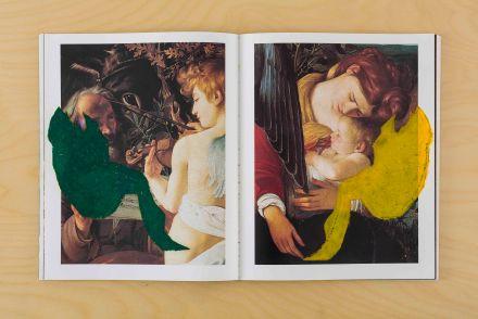 강희정_면의 책_The Book of Plane_2014_Acrylic paint, oil pastel on book_23 x 19 x 1 cm(2)