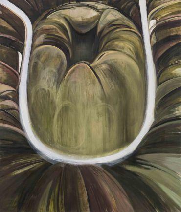 김세은_Crack_2016_Water mixed oil on canvas_205 x 175 cm