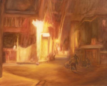 (웹용)밤 골목, Oil on canvas, 130x162cm, 2015.jpg