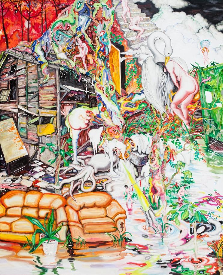 이세준 다양한 관계를 맺고 끊기 Various relationships oil on canvas 162.2x130.3cm  2013.jpg