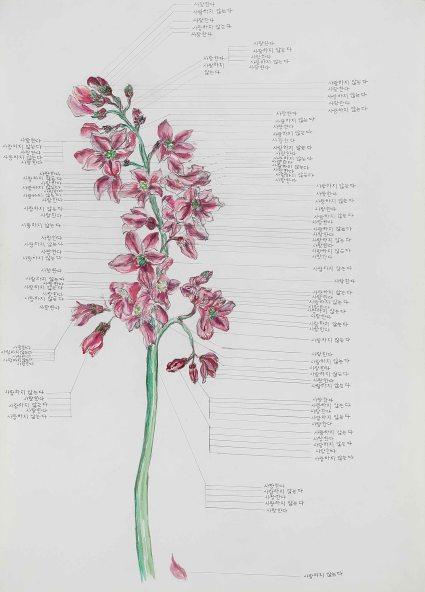 이준용_아날로그 고백기계_Watercolor on paper_2014_42 x 29