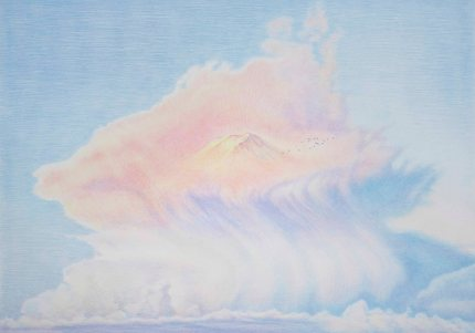 장종완_구름 2 Cloud 2_2016_Color pencil on paper_51 x 72 cm