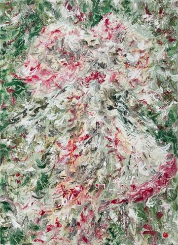 web맨드라미, 린넨에 유채, 34 x 24cm, 2011