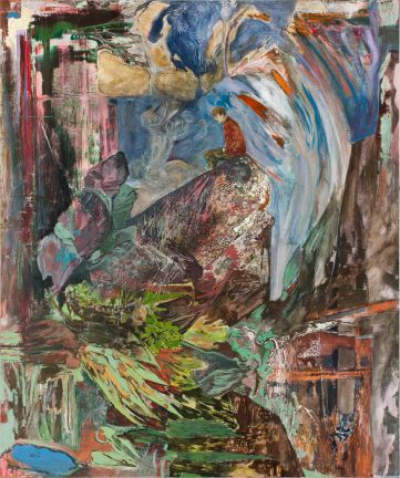 3.Hernan Bas_The golden boy_2012_acrylic,silkscreen, gold leaf and block print on linen_182.9x152